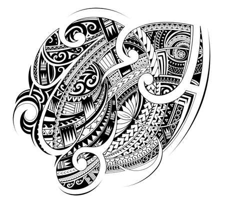 Illustration pour Maori style tribal tattoo shape - image libre de droit