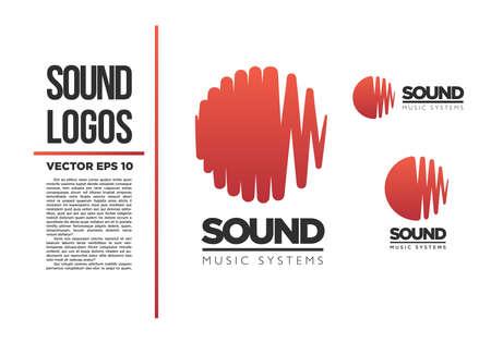 Illustration pour Sound Music logo vector logotype wave abstract - image libre de droit