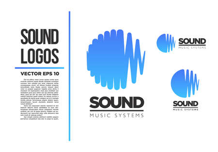 Sound Music logo vector logotype wave abstractのイラスト素材