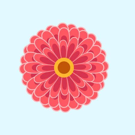 Illustration pour organic flower flat design vector ilustration - image libre de droit