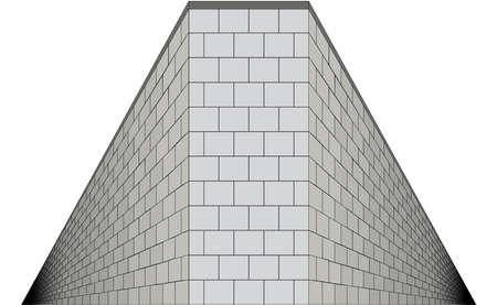 A wall with both sides going into infinity