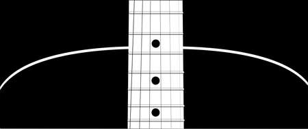 An acoustic guitar soundboard with strings
