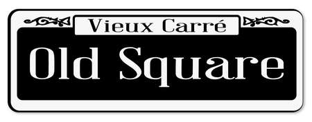 New Orleans street sign of Vieux Carre over a white background