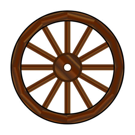 A typical wheel from a western covered wagon
