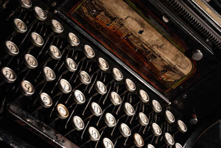 Foto per Details of an old retro typewriter, vintage style - Immagine Royalty Free
