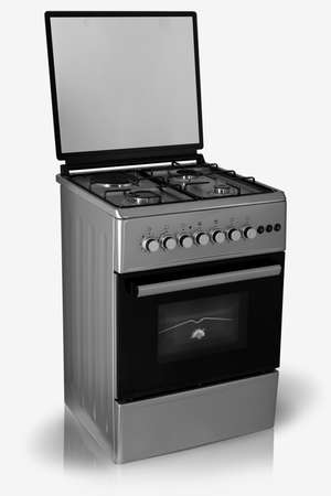 Photo pour modern household kitchen oven on a white background - image libre de droit