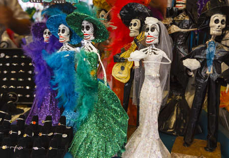 Day of the Death mexican wedding Calaveras found in a street shop in Los Angeles