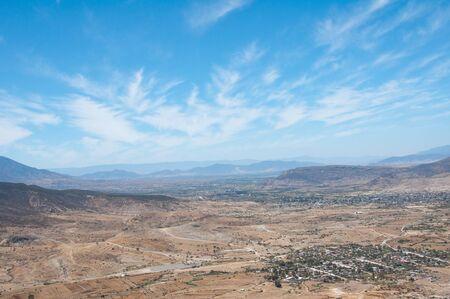 Desert landscape in Oaxaca, Mexico