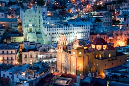 Guanajuato at night, Mexico