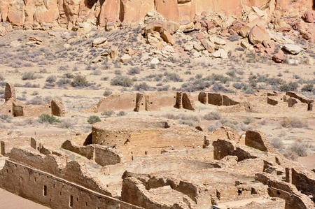 Pueblo Bonito ruins, Chaco Canyon, New Mexico, USA