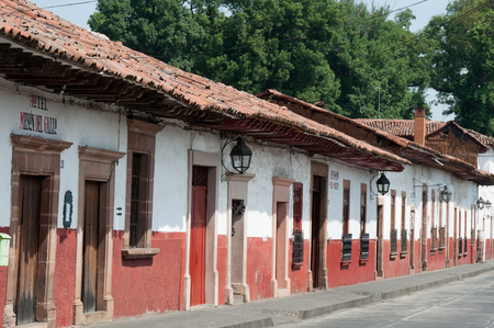 Colonial architecture in Patzcuaro, Mexico