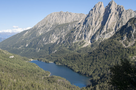 Lake Sant Maurici , national park of Aiguestortes and lake Sant Maurici, Pyrenees, Spain