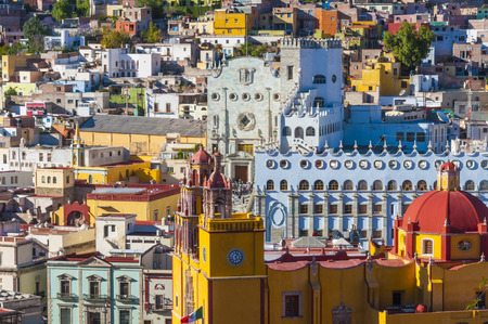 Downtown of Guanajuato from El Pipila monument, Mexico
