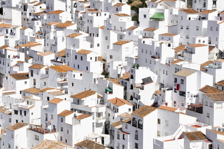 White town of Casares, Malaga, Spain