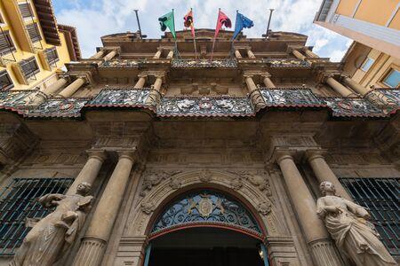 Photo pour Town hall of Pamplona, Navarre, Spain - image libre de droit