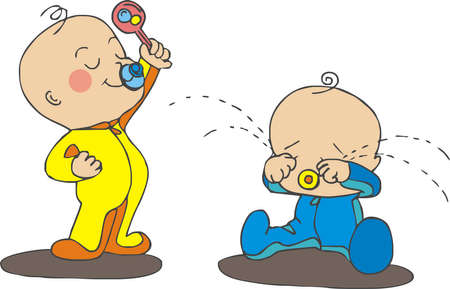 Photo for arguing babies - Royalty Free Image
