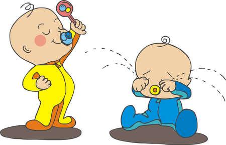 Foto de arguing babies - Imagen libre de derechos
