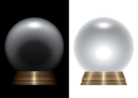 Illustration pour A vector illustration of a regular crystal ball on an isolated studio background - image libre de droit