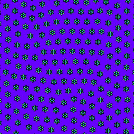 Geometric glade based on random leucanthemum. Family theme.