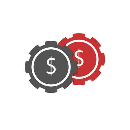 Casino chips icon illustration