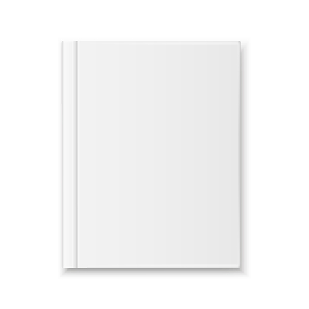 Illustration pour Vector realistic Blank book cover top view isolated - image libre de droit