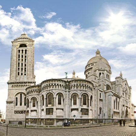 Basilica Sacre Coeur on the hill Montmartre