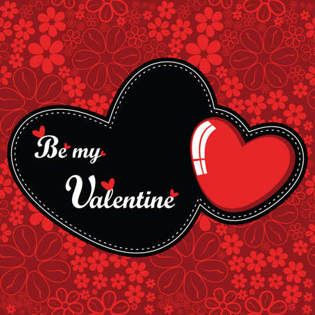 Illustration for Valentine`s Day card - Royalty Free Image