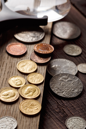Old coins. Gold, silver, Tsarist Russia