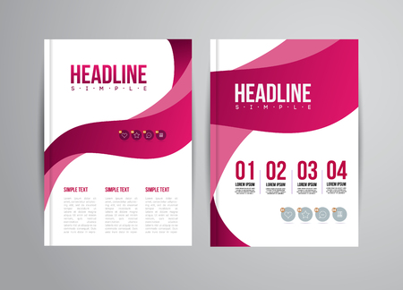 Illustrazione per Vector flyer design template with trend illustration. For business presentation, brochure. - Immagini Royalty Free