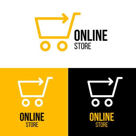 Online shop vector logo. For business.