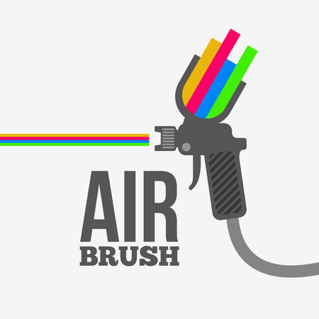 Illustration for Airbrush or spray gun vector. - Royalty Free Image
