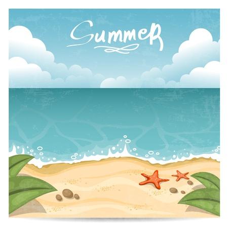 Summer beach Background Vector illustration