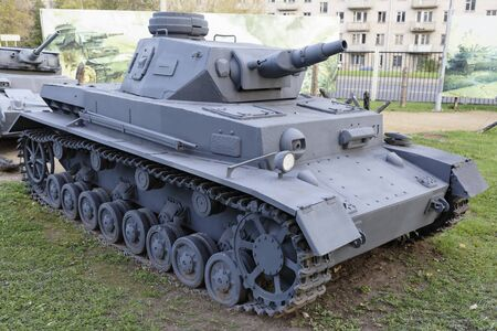 MOSCOW, RUSSIA- OCTOBER 7-?-IV- Medium tank(Germany ),1936.Weight,t-22,3 in the Central Museum of the Great Patriotic War on October 7; 2015 in Mosco