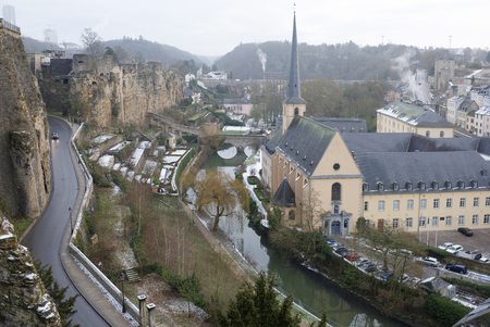 Grand Duchy of Luxembourg, Luxembourg- January 03,2017: The view from the most beautiful balcony of Europe