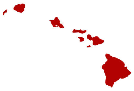 Illustration pour vector illustration of map of Hawaii Islands - U.S. state - image libre de droit