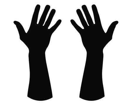 Illustration pour vector illustration of hand silhouette - image libre de droit
