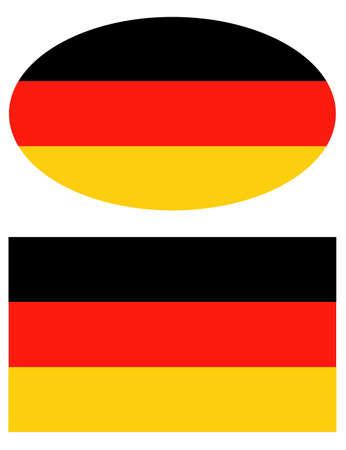 Illustration for vector illustration of Germany flag - Royalty Free Image