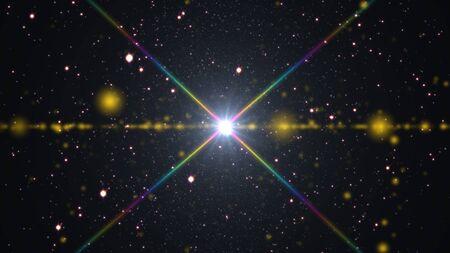 Foto de cosmos stars light lens flare - Imagen libre de derechos