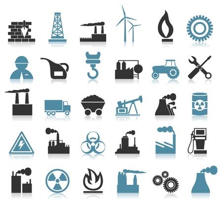Illustration pour Set of icons on a theme the industry  A  illustration - image libre de droit