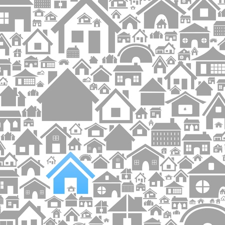 Background made of houses  A vector illustration