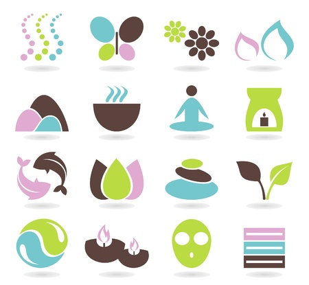 Illustration for Set of icons on a theme spa  A illustration - Royalty Free Image