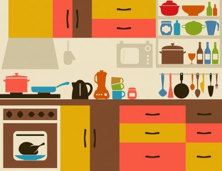 Ware on kitchen illustration