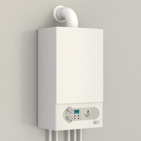 White gas boiler