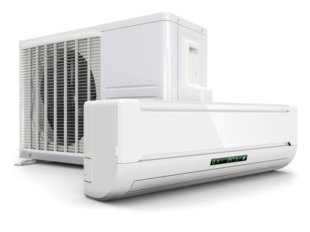 Foto für Air conditioning split system isolated on white background 3d - Lizenzfreies Bild