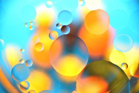 background, multicolored balls, blur, texture, heterogeneous color