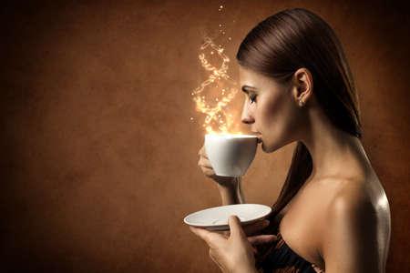 Photo pour Coffee magic - image libre de droit