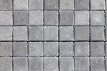 Photo for Background and texture of gray color from square paving granite tiles. Decor of roads and pedestrian streets. - Royalty Free Image
