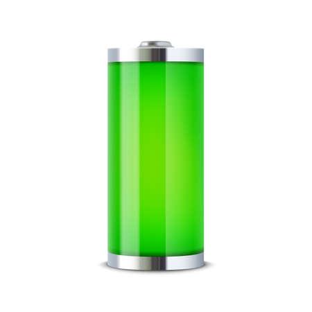 Full battery indicator  Vector illustration