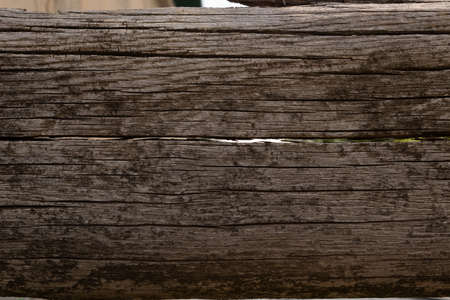 Photo for old wooden board in the cracks and stains from moss - Royalty Free Image