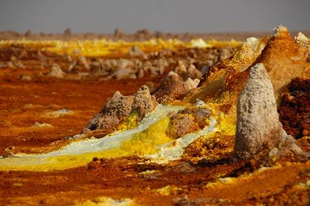 Colorful vulcano Dallol in Danakil dessert (Ethiopia)